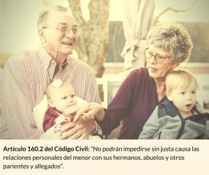 El régimen de visitas de los abuelos